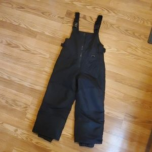 Kids Black snow pants